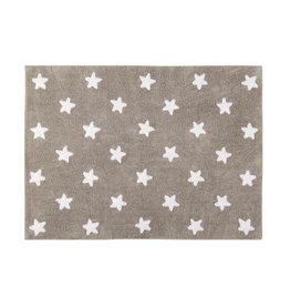 Lorena Canals Mat Stars Linen White 120 x 160 cm