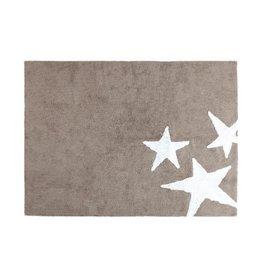 Lorena Canals Mat Tres Estrellas Linen White 120 x 160 cm