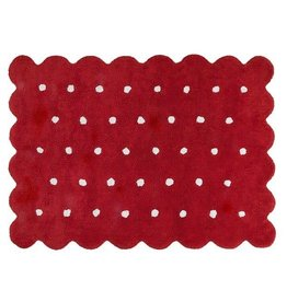 Lorena Canals Mat Biscuit Red 120 x 160 cm