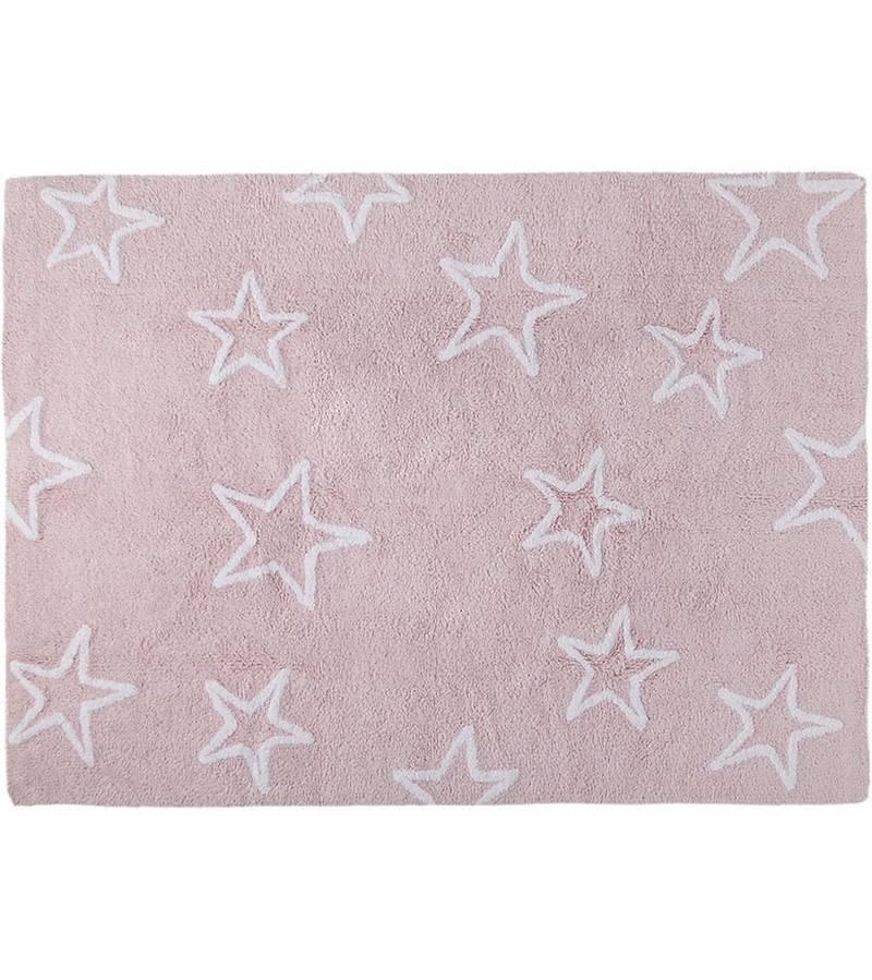 Lorena Canals Mat Pink Stars White 120 x 160 cm