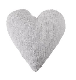 Lorena Canals Cushion Heart White