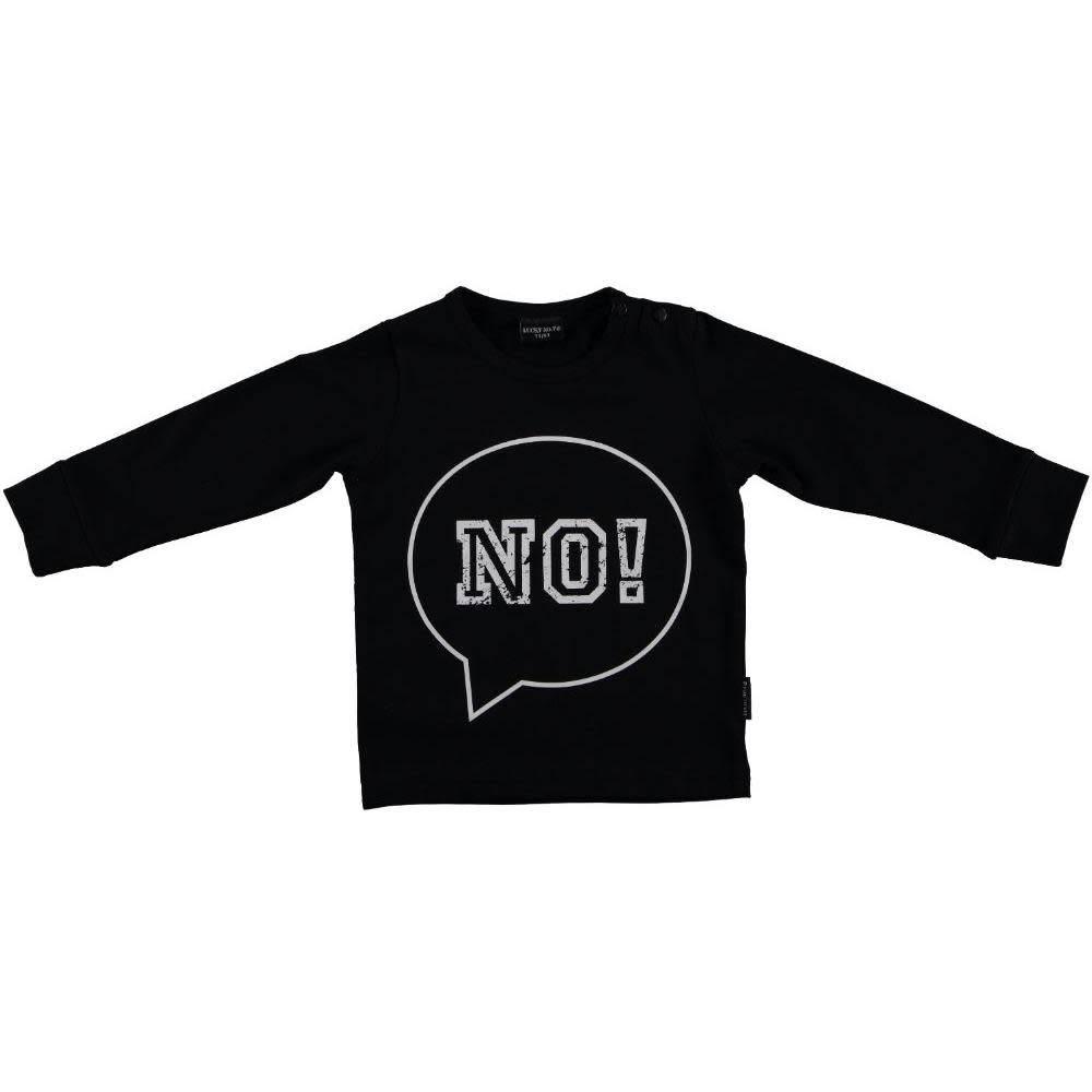Lucky No 7 NO! Tee Black Long Sleeves