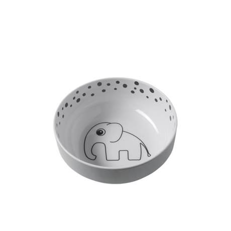 Done By Deer Yummy Bowl Happy Dots Grey