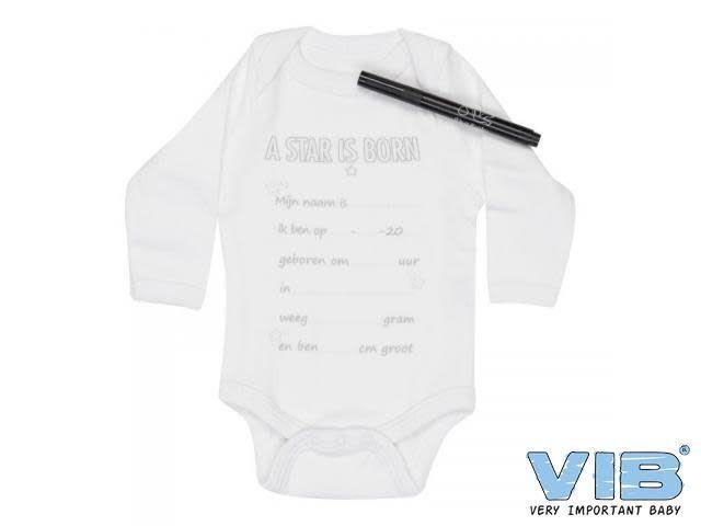 VIB Romper Met Textielmarker 'A Star Is Born' 0-3M
