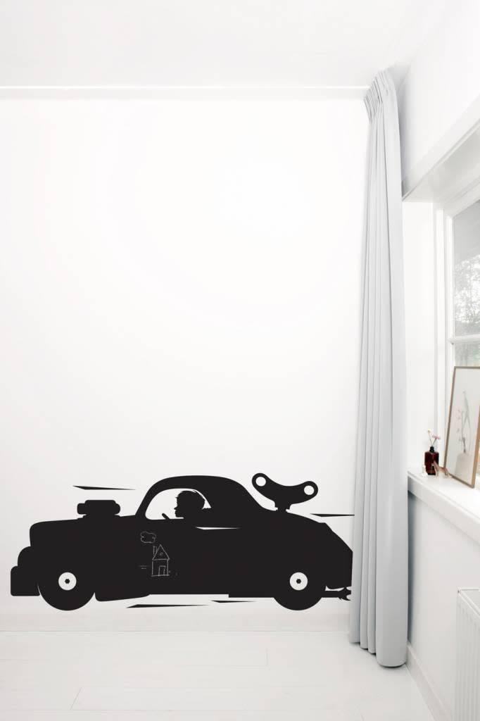 Kek Amsterdam Muursticker Racecar Xl
