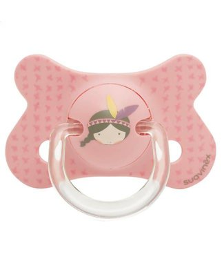 Suavinex Speen Fusion Silicone 4-18m Pink Indian