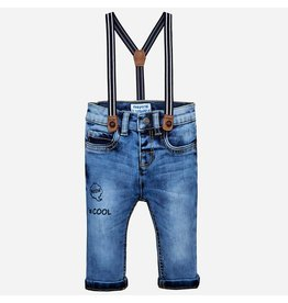 Mayoral Denim Pants With Suspenders