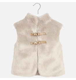 Mayoral Knit Vest With Fur