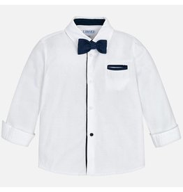 Mayoral L/s Shirt With Bowtie White