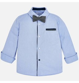Mayoral L/s Shirt With Bowtie Lavender