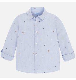Mayoral L/s Jacquard Shirt Blue