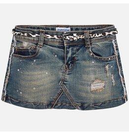 Mayoral Denim Skirt With Belt