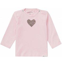 Noppies Shirt Lange Mouwen Roze Met Hartje
