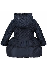 Le Chic Baby Girls Coat Quilt Navy
