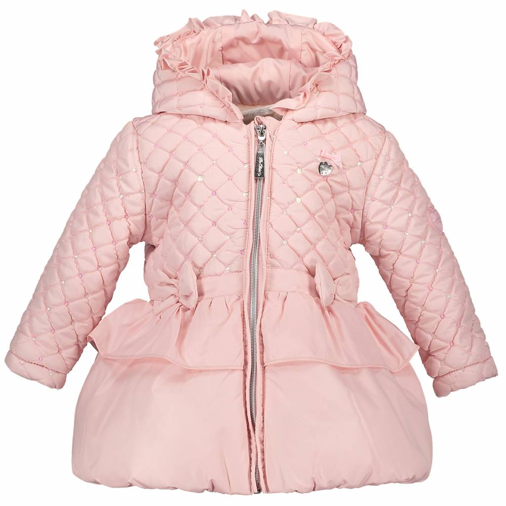 Le Chic Baby Girls Coat Quilt Pink