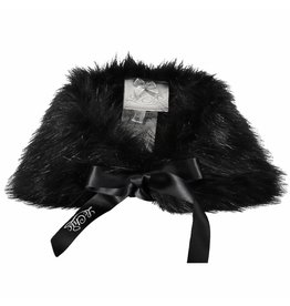 Le Chic Girls Fake Fur Black