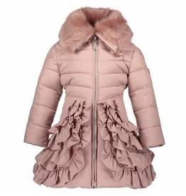 Le Chic Girls Coat Ruffled Bottom