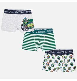 Mayoral Set Of 3 Printed Boxers Moss