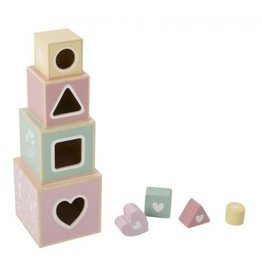 Little Dutch Stapelblokken Hout Adventure Pink