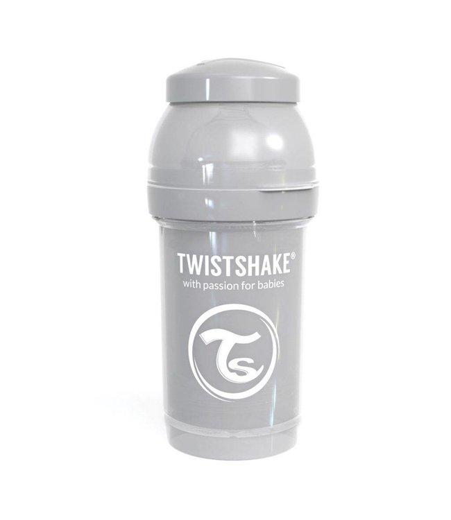 Twistshake Fles Antikoliek 180 Pastel Grijs