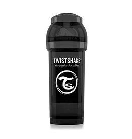 Twistshake Fles Antokoliek 260Ml Zwart