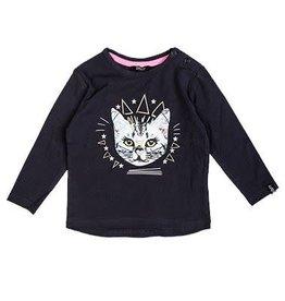 Beebielove Shirt Long Sleeve Cat Antraciet