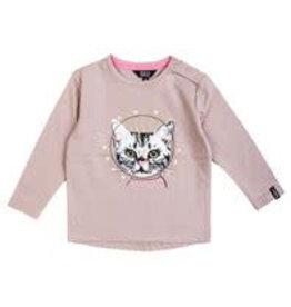 Beebielove Shirt Long Sleeve Cat Pink