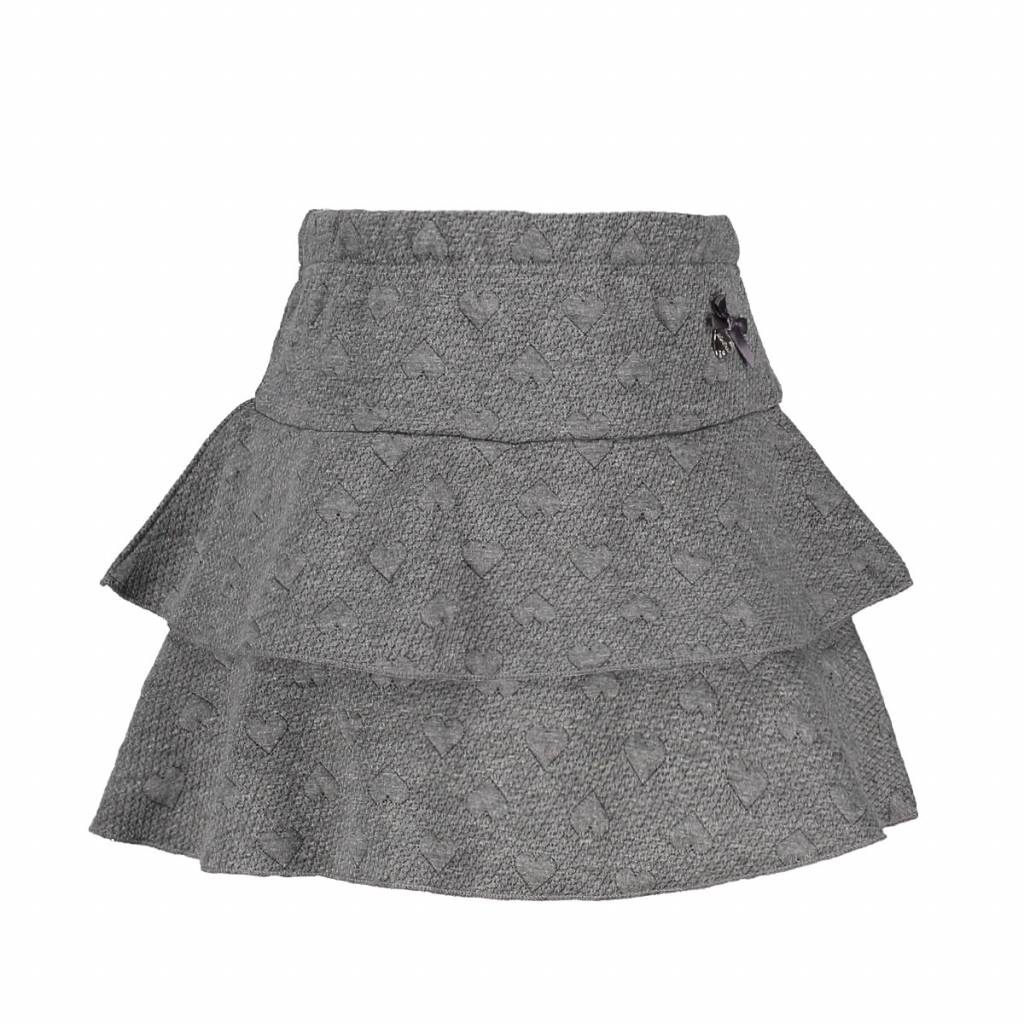 Le Chic Skirt Relief Sweat Two Ruffles Antracite
