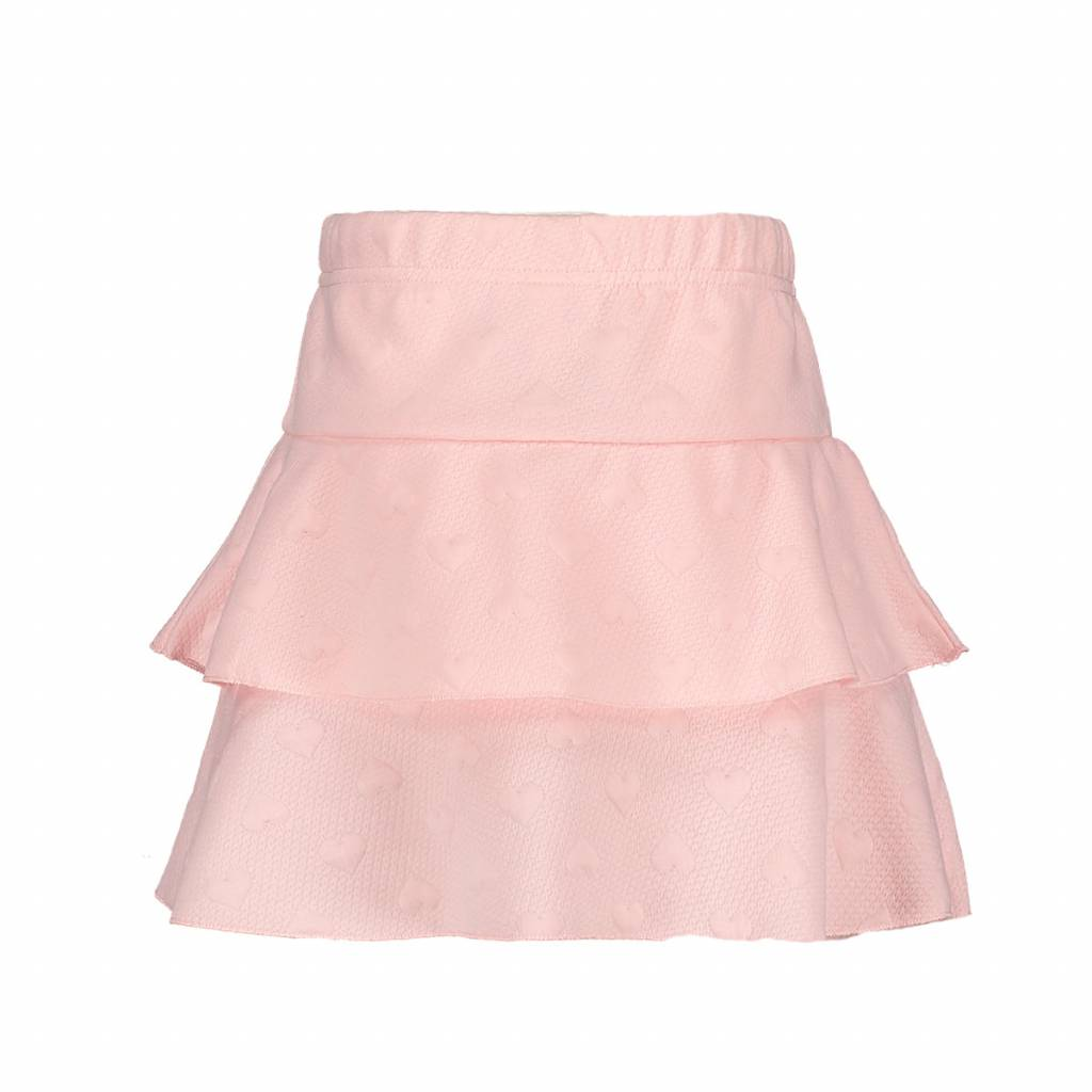 Le Chic Skirt Relief Sweat Two Ruffles Pink