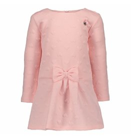 Le Chic Dress Relief Sweat Pink