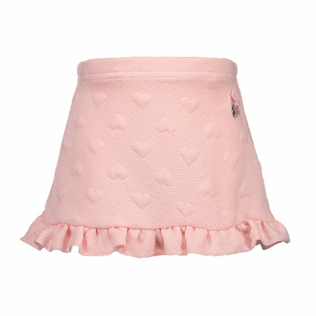 Le Chic Skirt Relief Sweat With Ruffle