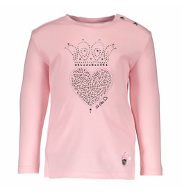 Le Chic Shirt Heart Crown Appl. Pink