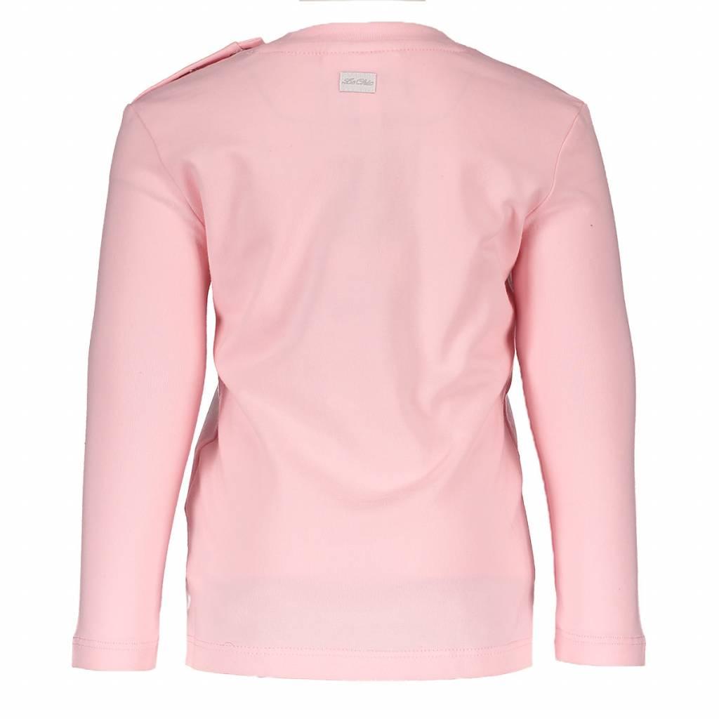 Le Chic Shirt Heart Crown Appl. Pink