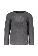Le Chic Shirt Heart Crown Appl. Anthracite Melange