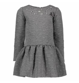 Le Chic Dress Reliëf Sweat Anthracite Melange