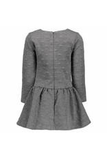 Le Chic Dress Reliëf Sweat Anthracite Melange