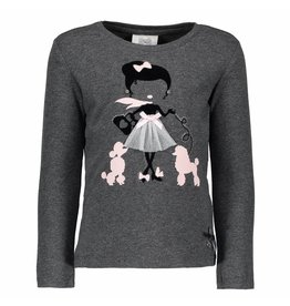 Le Chic Shirt Girl With Poodles Anthracite Melange