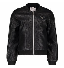 Le Chic Bomber Cut Out Flower Flower Leather