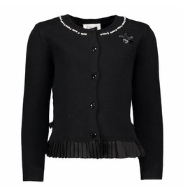 Le Chic Cardigan Plissee At Bottom Black