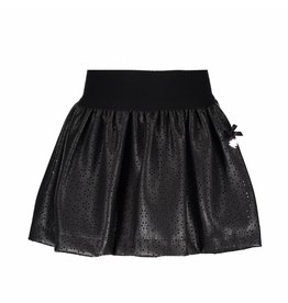 Le Chic Skirt Cut-Out Flower Leather