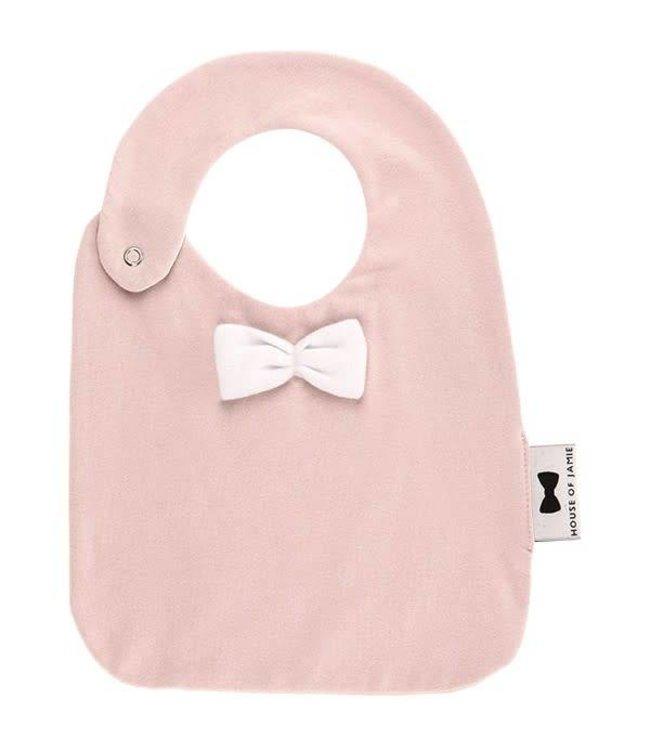 House Of Jamie Bow Tie Bib Pink