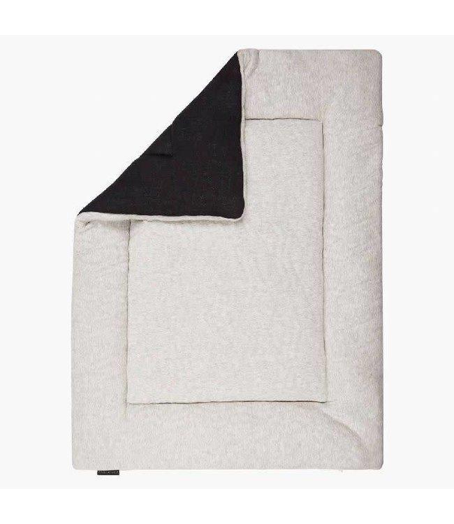 House Of Jamie Boxkleed Omkeerbaar Geometry Jaquard Black/Stone 75x95cm