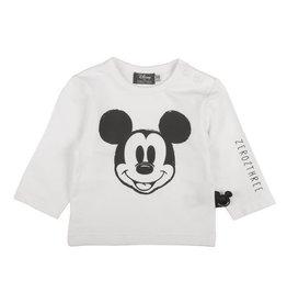 Zero2Three Shirt Lang Mouw Mickey Wit