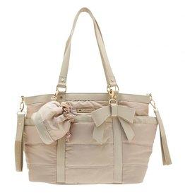 Mayoral Nursery Bag Satin Beige With Accessories