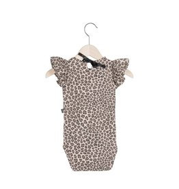 House Of Jamie Ruffled Bodysuit Leopard