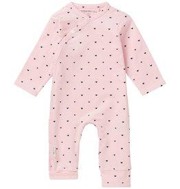Noppies Pyjama Roze Met Hartjes Lange Mouw