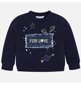 Mayoral Embroidered Pullover Navy