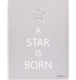 Childhome Schilderij A Star Is Born Taupe 30x40cm