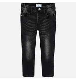 Mayoral Super SLim Denim Pants Black