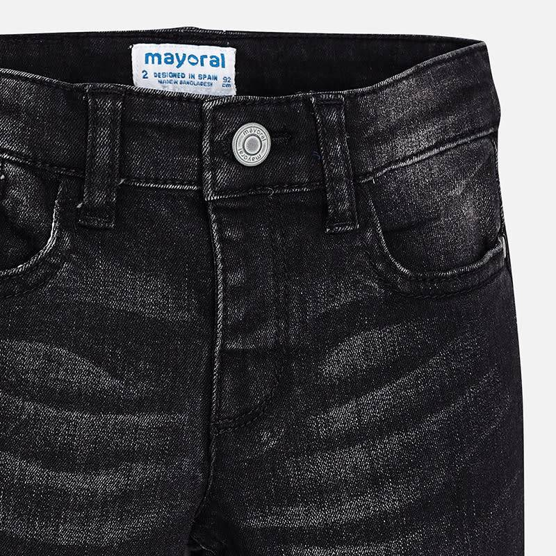 Mayoral Super SLim Denim Pants Black